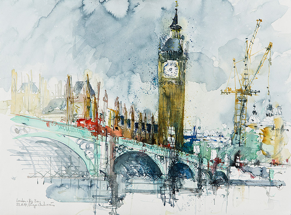 aquarell-stadt-london-bigben