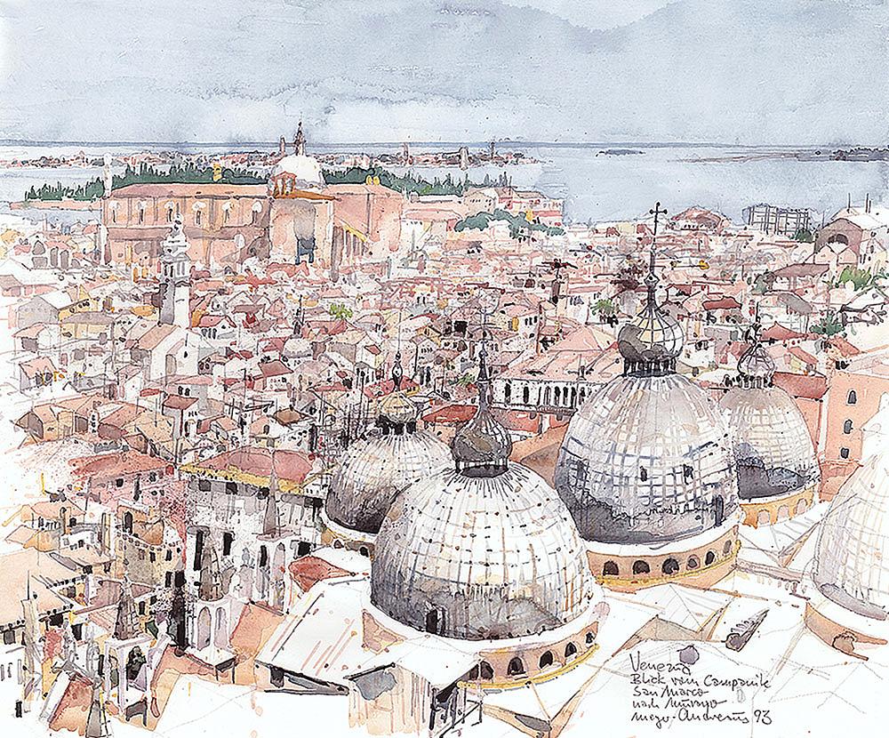 aquarell-stadt-venedig-campanile